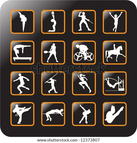 Vector Icon Set for sports -3 - stock vector