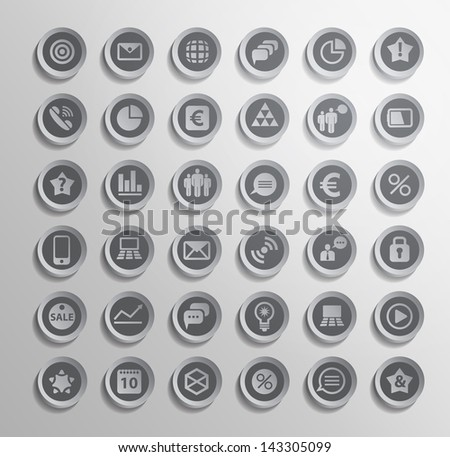 Vector icon. Set of elements 3D - stock vector