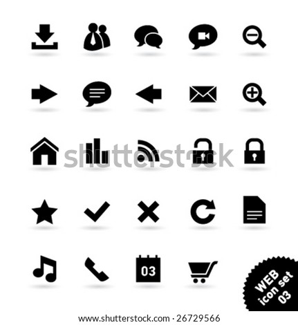 Vector icon set WEB [03] - stock vector