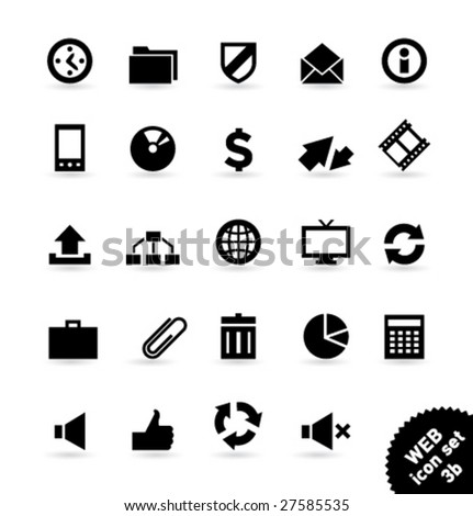 Vector icon set WEB [03b] - stock vector