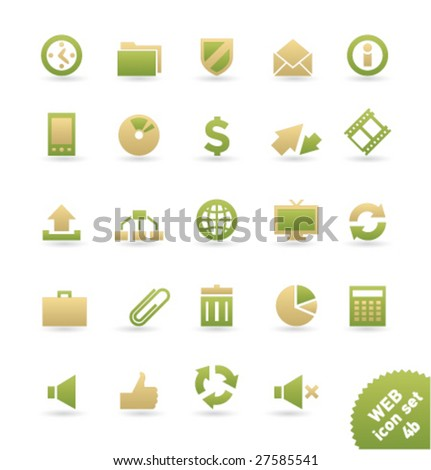 Vector icon set WEB [04b] - stock vector