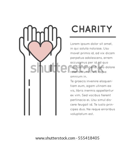 Vector Icon Style Illustration Card Poster Stock Vector - Fundraising brochure template