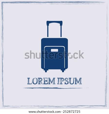 Vector icon suitcase  - stock vector