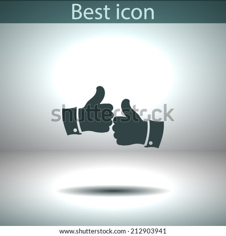 Vector icon.  The best choice of Web icons