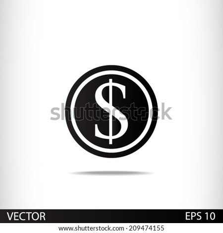 Vector icon with a gradient - stock vector