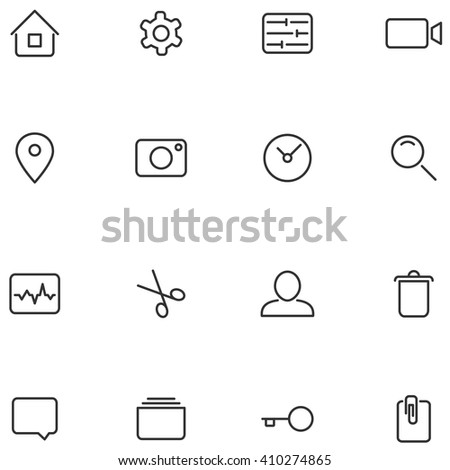 Vector icons and buttons for your web interface or mobile applications design. - stock vector