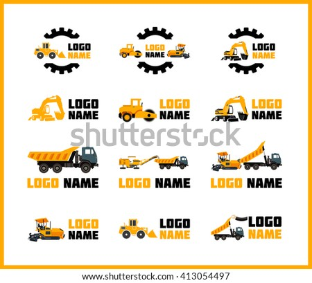 vector icons construction equipment that can stock vector