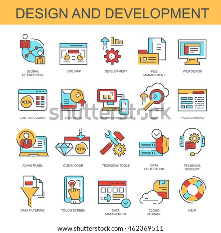 Vector icons. Design and development