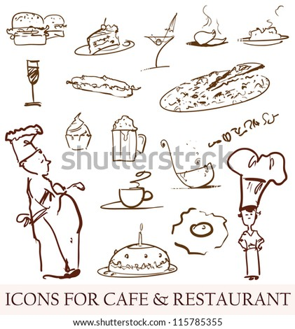 vector icons for cooking