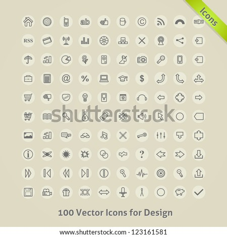 Vector Icons for Design. - stock vector