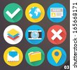 Vector Icons for Web and Mobile Applications. Set 3. - stock vector