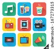 Vector Icons for Web and Mobile Applications. Set 23. - stock vector