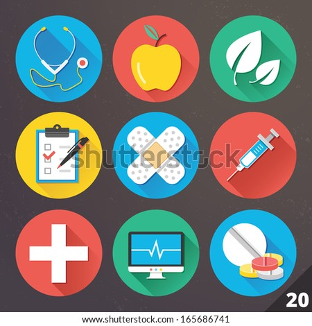 Vector Icons for Web and Mobile Applications. Set 20. - stock vector