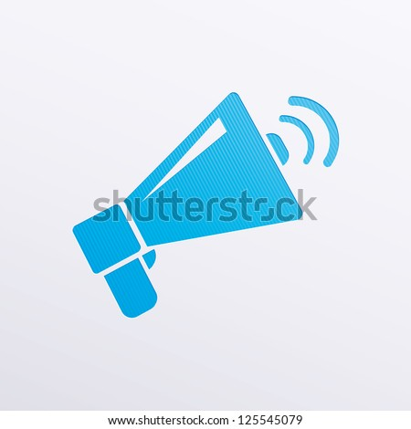 Vector icons megaphone - stock vector