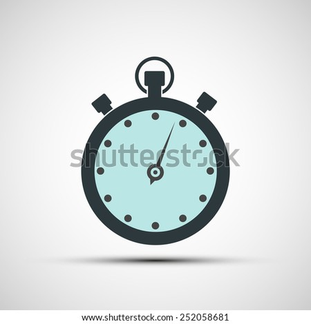Vector icons of sports stopwatch - stock vector