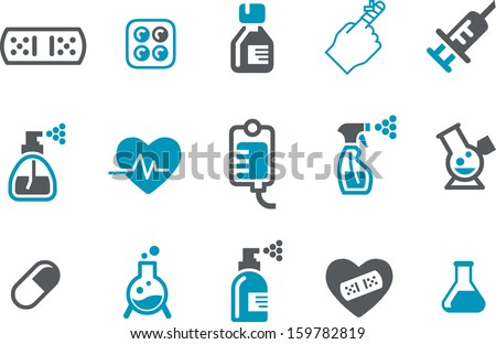 Vector icons pack - Blue Series, appliance collection  - stock vector