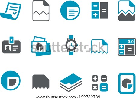 Vector icons pack - Blue Series, office collection