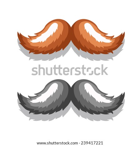 Vector icons retro mustache in an elegant style