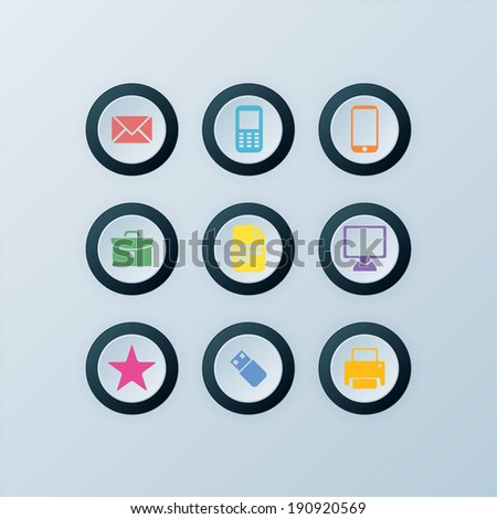 Vector Icons 9 Set