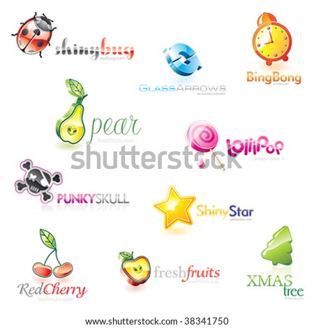 Vector icons set - stock vector