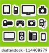 Vector icons set different multimedia digital devices. - stock photo