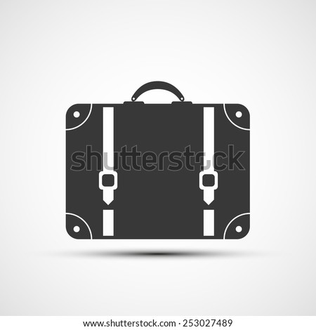 Vector icons suitcase - stock vector
