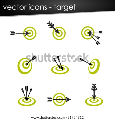 vector icons --- target set - stock vector