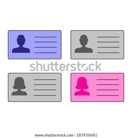Vector id cards - stock vector