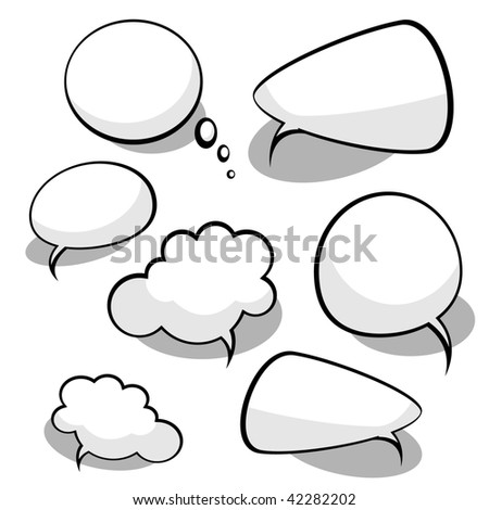 Vector Idea Bulbs. Chat Bubbles