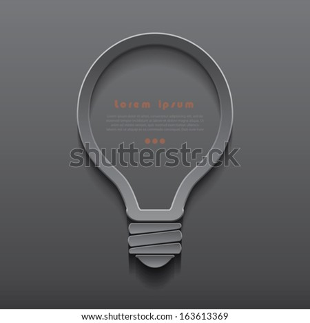 Vector idea light bulb icon banner template can be used for your business, presentation, web design, graphic, plan, concept idea, diagram, options, education - stock vector