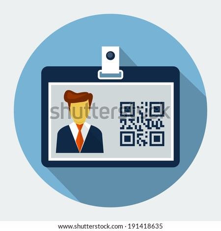 Vector Identification card  - stock vector