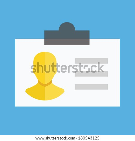 Vector Identification Card Icon - stock vector