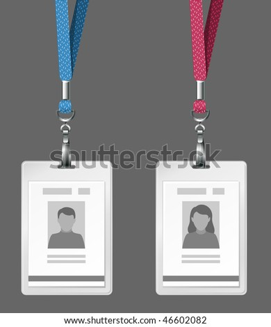 vector identification cards template - stock vector