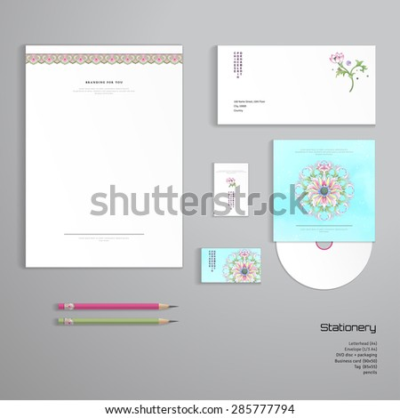 vector identity templates letterhead envelope business stock vector 285777794 shutterstock. Black Bedroom Furniture Sets. Home Design Ideas