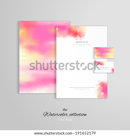 watercolor business card stock images royalty free images