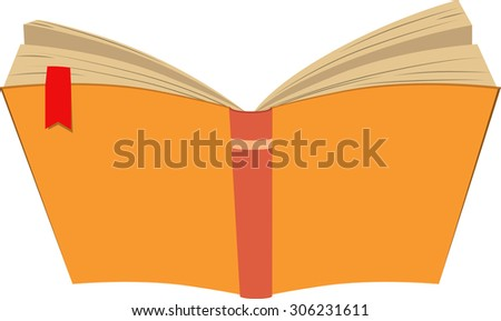 Vector illustrated opened book isolated on white background. - stock vector