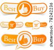 Vector illustratin of Best buy sticky labels. - stock vector