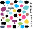 Vector illustration - A set of various talk and think balloons ( Speech Bubbles ). - stock vector