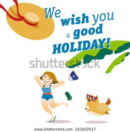 Vector Illustration About Perfect Holidays Design With Best Wishes For Your Friends Good Vacation