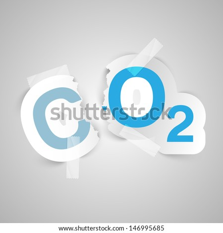 Vector illustration about the air pollution  - stock vector