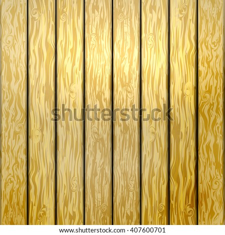 Vector illustration abstract background of yellow wooden planks.  - stock vector