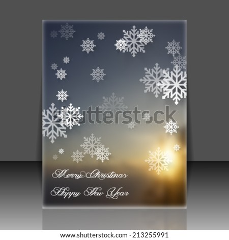 Vector illustration abstract brochure 2015 Christmas Background - eps10  - stock vector