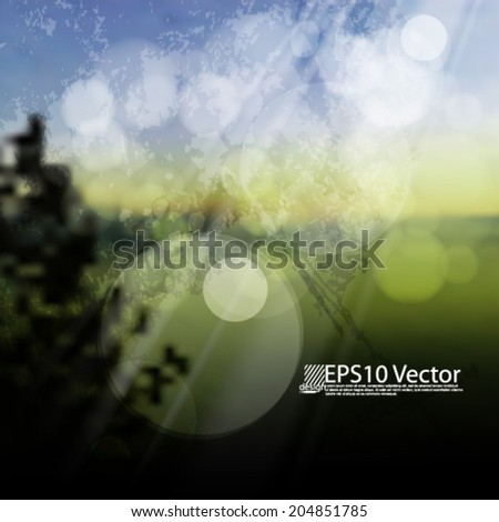 Vector illustration abstract bukeh background - eps 10 - stock vector