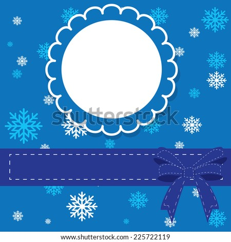 Vector illustration abstract Christmas Background and Baby background with frame - eps10