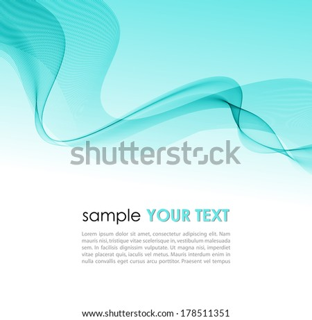 Vector illustration Abstract colorful background with blue smoke wave - stock vector