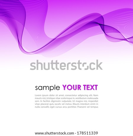 Vector illustration Abstract colorful background with violet smoke wave - stock vector