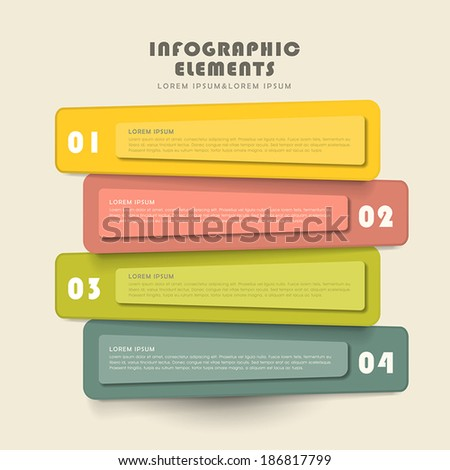 vector illustration abstract creative banner infographics design - stock vector