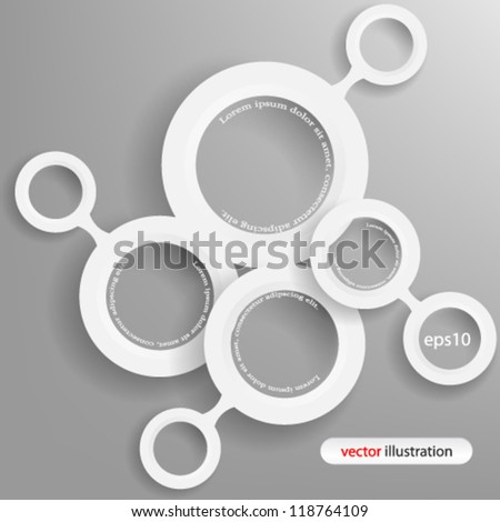 Vector illustration abstract 3D geometric website concept design - eps10 - stock vector