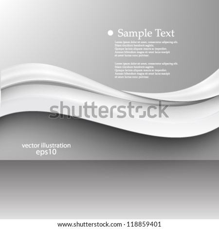 Vector illustration abstract 3D wave background - eps10 - stock vector