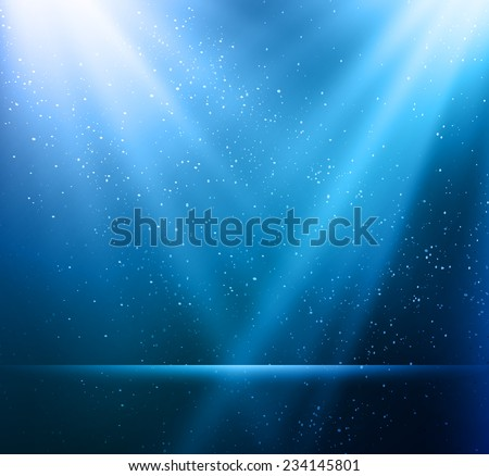 Vector  illustration Abstract magic blue light background - stock vector